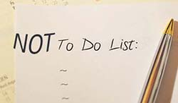 NOT-to-do